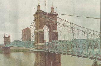 The Roebling Bridge over the Ohio River